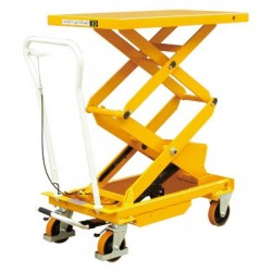 BS15D - Table élévatrice manuelle double ciseaux 150 kg . 830 x 500 mm