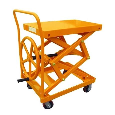 LC200 - Table élévatrice manuelle à manivelle 200 Kg . 600 x 400 mm