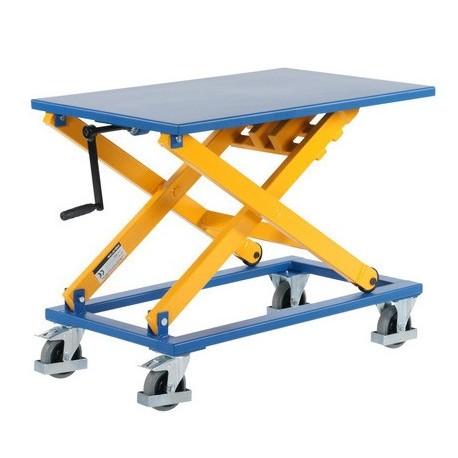 MST300 - Table élévatrice manuelle à manivelle 300 kg . 950 x 600 mm Elévation : 1000 mm