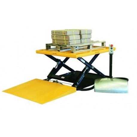 HTFG - Table élévatrice fixe électrique extra-plate 1000 kg . 1450 x 1140 mm