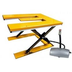 HE1000 - Table élévatrice fixe électrique en « E » extra-plate 1000 kg