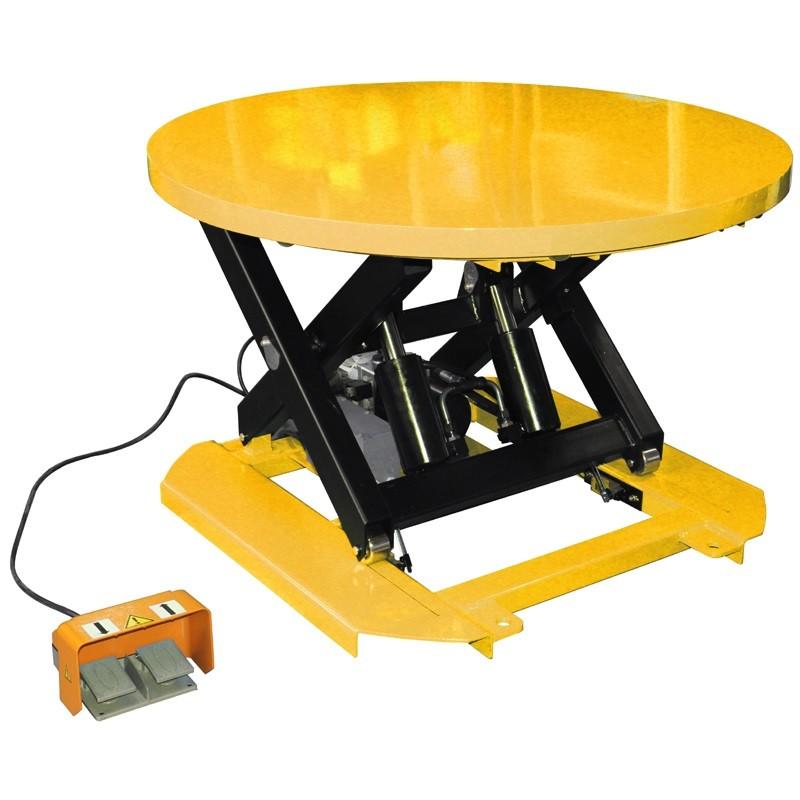 spp360 table elevatrice avec plateau rotatif capacite 1000 2000 kg