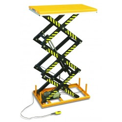 HT2000 - Table élévatrice fixe électrique à triple ciseaux verticaux. Elévation : 3000 mm