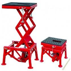 ML04302 - Elévateur manuel hydraulique pour motos / 135 kg. Plateforme : 410 x 350 mm