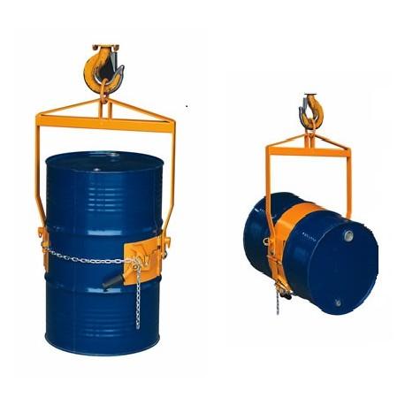 LM800 - Retourneur-basculeur de fûts pour palan / Capacité 365 kg