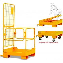 NK30B - Nacelle de maintenance aérienne repliable pour chariots élévateurs / Capacité 300 kg