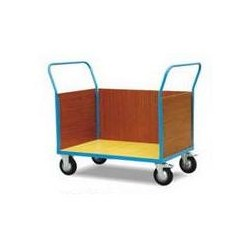 CU50E/CU50F - Chariot de manutention à 3 cotés bois,double poignée,capacité 500 kg