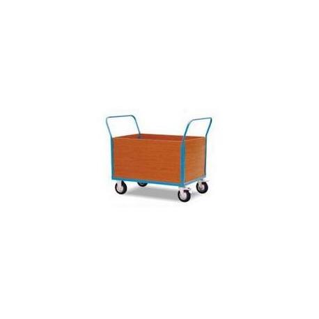CU50G/CU50H - Chariot 4 cotés bois (haut),double poignée,capacité 500 kg