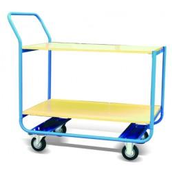 CZ20B - Chariot de manutention double plateaux bois Capacité : 200 kg