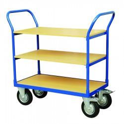 CJ3-250 - Chariot de manutention triples plateformes bois Capacité : 250 kg