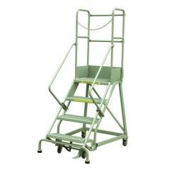 RLC354 - Escabeau roulant à immobilisation automatique / Hauteur plateforme : 1020 mm - Capacité : 160 kg