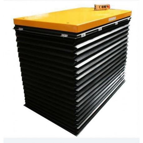 HIW1A - Table élévatrice fixe électrique 1000 kg / 1400 x 900 mm avec soufflet de protection
