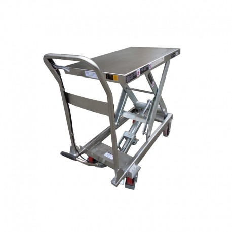 Table semi Inox / Capacité 150 kg