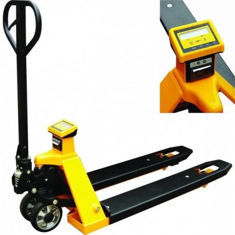 TP20S-I - Transpalette manuel peseur 2000 kg avec imprimante / Précision 1 kg