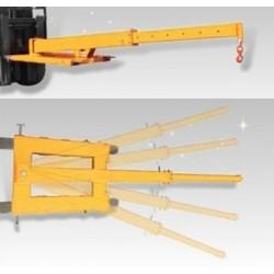 Potence de levage télescopique pivotante / Capacité 2000 kg
