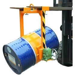 LF800 - Retourneur - basculeur de fûts pour chariot élévateur ou palan / capacité 360 kg