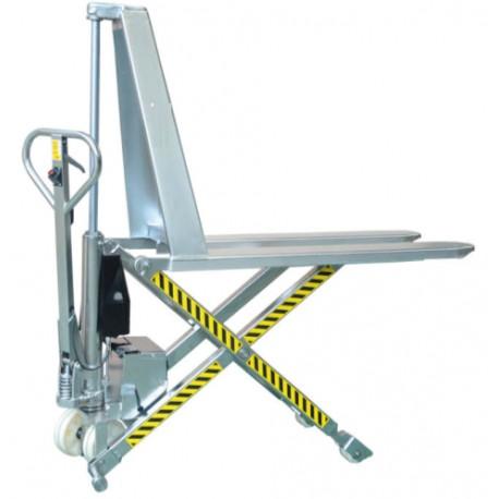 ACS1054E - Transpalette INOX à haute levée électrique monocylindre / Capacité 1000 kg