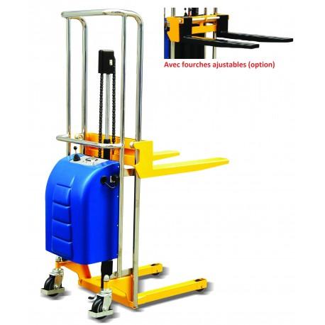 GE4015 - Gerbeur semi électrique à plateau amovible 400 kg / 1500 mm