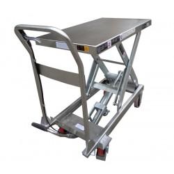 TF30S - Table élévatrice manuelle semi-inox 250 kg . 815 x 500 mm Elévation : 890 mm