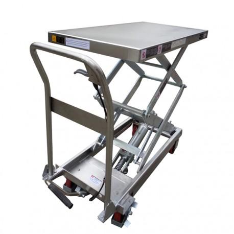 TFD15S - Table élévatrice manuelle semi-inox 350 kg . 910 x 500 mm Elévation : 1295 mm